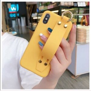 Lovely Wrist Strap iPhone Case Yellow